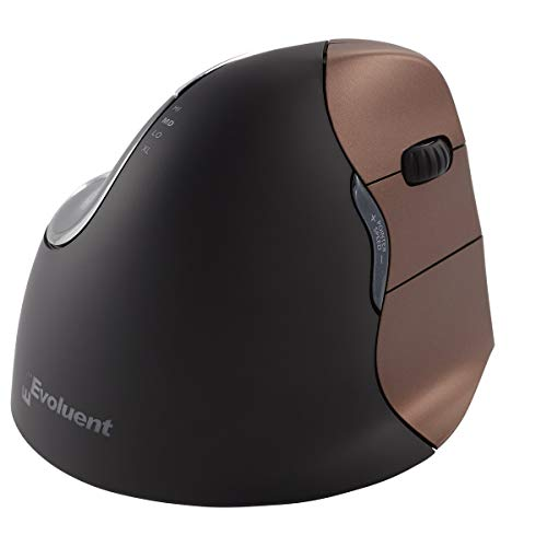 Evoluent VM4SW VerticalMouse 4 Right Hand Ergonomic Mouse with Wireless Connection (Small Size)